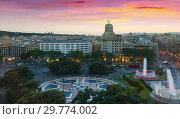 Купить «Square of Catalonia», фото № 29774002, снято 19 мая 2017 г. (c) Яков Филимонов / Фотобанк Лори