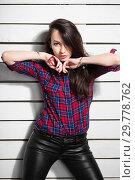 Купить «Attractive young woman.», фото № 29778762, снято 26 апреля 2016 г. (c) Сергей Сухоруков / Фотобанк Лори