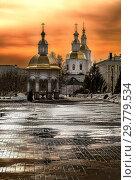 Купить «Свет вечерний над монастырем в Дивеево (Россия)», фото № 29779534, снято 2 апреля 2018 г. (c) oleg savichev / Фотобанк Лори