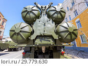 Купить «Russian anti-aircraft missile system (SAM) S-300», фото № 29779630, снято 5 мая 2018 г. (c) FotograFF / Фотобанк Лори
