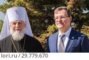 Купить «Metropolitan Sergius and Governor Dmitry Azarov», фото № 29779670, снято 6 мая 2018 г. (c) FotograFF / Фотобанк Лори