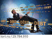 Купить «Business concept of debt and borrowing», фото № 29784910, снято 13 декабря 2019 г. (c) Elnur / Фотобанк Лори