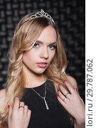 Купить «Portrait of young blond woman.», фото № 29787062, снято 22 декабря 2015 г. (c) Сергей Сухоруков / Фотобанк Лори