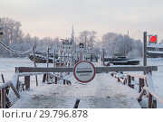 Купить «Зимняя понтонная переправа через реку», фото № 29796878, снято 4 января 2019 г. (c) Яковлев Сергей / Фотобанк Лори