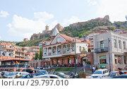 Купить «Площадь Горгасали в Старом Тбилиси», фото № 29797010, снято 7 августа 2013 г. (c) Олег Хархан / Фотобанк Лори
