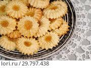 Купить «Домашняя выпечка. Печенье из песочного теста», эксклюзивное фото № 29797438, снято 12 октября 2018 г. (c) Dmitry29 / Фотобанк Лори