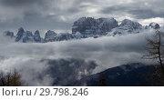 Купить «Snow-capped alps mountains in clouds», фото № 29798246, снято 12 мая 2017 г. (c) Михаил Коханчиков / Фотобанк Лори