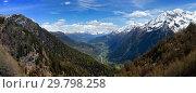 Купить «Snow mountains and valley in Switzerland», фото № 29798258, снято 15 мая 2017 г. (c) Михаил Коханчиков / Фотобанк Лори