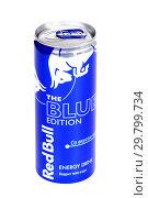 Купить «Red Bull The Blue Edition», фото № 29799734, снято 26 января 2019 г. (c) Art Konovalov / Фотобанк Лори
