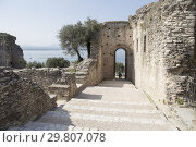 Купить «SIRMIONE LAKE DI GARDA ITALY: Roman ruines of Catullo on April 28, 2018. Grottoes of Catullus.», фото № 29807078, снято 28 апреля 2018 г. (c) age Fotostock / Фотобанк Лори