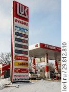 Купить «АЗС, Волгоград», фото № 29812810, снято 29 января 2019 г. (c) Владимир Казанков / Фотобанк Лори
