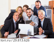 Купить «Business people having break», фото № 29813626, снято 21 февраля 2019 г. (c) Яков Филимонов / Фотобанк Лори