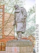 Купить «Памятник Уинстону Черчиллю. Прага. Чехия», фото № 29813710, снято 22 декабря 2015 г. (c) Сергей Афанасьев / Фотобанк Лори
