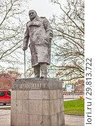 Купить «Памятник Уинстону Черчиллю. Прага. Чехия», фото № 29813722, снято 22 декабря 2015 г. (c) Сергей Афанасьев / Фотобанк Лори
