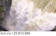 Купить «Beautiful natural canyon and amazing waterfall», видеоролик № 29813886, снято 28 января 2019 г. (c) Mikhail Starodubov / Фотобанк Лори