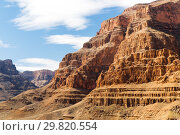 Купить «aerial view of grand canyon cliffs from helicopter», фото № 29820554, снято 1 марта 2018 г. (c) Syda Productions / Фотобанк Лори