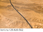 Купить «aerial view of road in grand canyon desert», фото № 29820562, снято 1 марта 2018 г. (c) Syda Productions / Фотобанк Лори