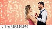 Купить «man giving woman engagement ring on valentines day», фото № 29820970, снято 30 ноября 2018 г. (c) Syda Productions / Фотобанк Лори