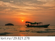 Tropical sunset (2013 год). Стоковое фото, фотограф Юлия Бабкина / Фотобанк Лори