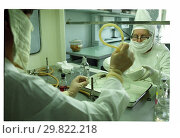 Купить «В институте вирусологии имени Гамалеи, 2001», фото № 29822218, снято 24 мая 2019 г. (c) Борис Кавашкин / Фотобанк Лори