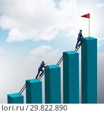 Купить «Businessman in career growth and progression concept», фото № 29822890, снято 21 января 2020 г. (c) Elnur / Фотобанк Лори
