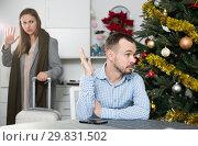 Купить «Unhappy couple quarreling», фото № 29831502, снято 15 января 2019 г. (c) Яков Филимонов / Фотобанк Лори