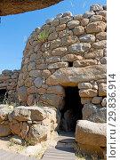 Купить «Nuraghe La Prisgiona archaeological site, dating from 1300 BC, near Arzachena, Sardinia, Italy, Europe», фото № 29836914, снято 20 июля 2019 г. (c) age Fotostock / Фотобанк Лори