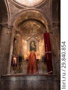 Купить «Religious service in the Church of St. Karapet monastery Noravank. Armenia», фото № 29840854, снято 23 сентября 2018 г. (c) Наталья Волкова / Фотобанк Лори