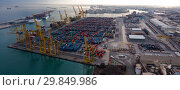 Купить «Port of Barcelona», фото № 29849986, снято 25 декабря 2017 г. (c) Яков Филимонов / Фотобанк Лори