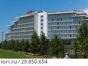 Sochi, Russia - June 2. 2018 The Three-star Sochi Park Hotel in Adler. Редакционное фото, фотограф Володина Ольга / Фотобанк Лори