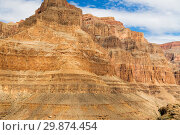 Купить «aerial view of grand canyon cliffs from helicopter», фото № 29874454, снято 1 марта 2018 г. (c) Syda Productions / Фотобанк Лори
