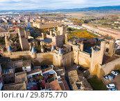 Towers of castle Palacio Real de Olite. Spain (2018 год). Стоковое фото, фотограф Яков Филимонов / Фотобанк Лори