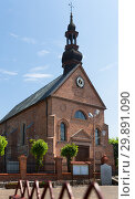 Купить «Old landmark Sw. Marcina Church is located in Poland», фото № 29891090, снято 11 мая 2018 г. (c) Яков Филимонов / Фотобанк Лори
