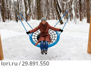 Woman in a brown cloak. Стоковое фото, фотограф Игорь Ворожбитов / Фотобанк Лори