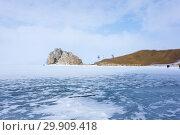 Купить «Cape Burkhan on Olkhon Island at Baikal Lake», фото № 29909418, снято 5 марта 2017 г. (c) Юлия Белоусова / Фотобанк Лори