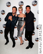 Купить «Disney ABC Television Group Hosts TCA Winter Press Tour 2018 Featuring: Luke Bryan, Katy Perry, Lionel Richie Where: Pasadena, California, United States When: 09 Jan 2018 Credit: FayesVision/WENN.com», фото № 29912562, снято 9 января 2018 г. (c) age Fotostock / Фотобанк Лори