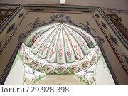 Купить «Interior view of Sultan Murad II tomb,mausoleum at Muradiye complex or Complex of Sultan Murad II in Bursa,Turkey. 20 May 2018.», фото № 29928398, снято 20 мая 2018 г. (c) easy Fotostock / Фотобанк Лори