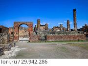 Руины древнего города Помпеи возле вулкана Везувий, Неаполь, Италия (2015 год). Стоковое фото, фотограф Яна Королёва / Фотобанк Лори