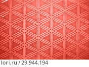 Купить «Decorative ceramic tile figured pattern in a trendy color of the year 2019 Living Coral pantone.», фото № 29944194, снято 14 февраля 2018 г. (c) Ярослав Данильченко / Фотобанк Лори