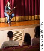 Купить «Spectators on a guitar concert», фото № 29961490, снято 3 декабря 2016 г. (c) Яков Филимонов / Фотобанк Лори