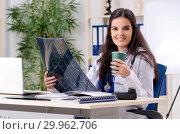 Female doctor radiologist working in the clinic. Стоковое фото, фотограф Elnur / Фотобанк Лори