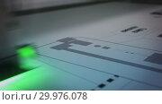 Купить «Lazer printing equipment at work video», видеоролик № 29976078, снято 10 февраля 2019 г. (c) Гурьянов Андрей / Фотобанк Лори