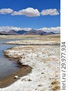 Купить «Великие озера Тибета. Солоноводное озеро Рулдан (Нак) на Тибетском нагорье летом. Китай», фото № 29977934, снято 11 июня 2018 г. (c) Овчинникова Ирина / Фотобанк Лори