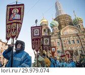 Крестный ход в честь Дня православной молодежи (2019 год). Редакционное фото, фотограф Евгений Кашпирев / Фотобанк Лори