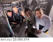 Купить «Thoughtful people at escape room», фото № 29980974, снято 29 января 2019 г. (c) Яков Филимонов / Фотобанк Лори
