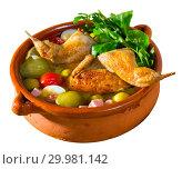 Купить «Bowl with poultry saltwort soup», фото № 29981142, снято 21 июля 2019 г. (c) Яков Филимонов / Фотобанк Лори