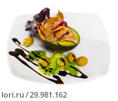 Купить «Grilled quail leg quarters with vegetables and balsamic», фото № 29981162, снято 22 апреля 2019 г. (c) Яков Филимонов / Фотобанк Лори