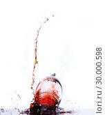 Купить «Wine glass falling», фото № 30000598, снято 24 февраля 2012 г. (c) Wavebreak Media / Фотобанк Лори