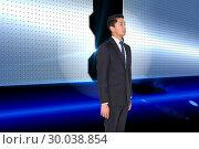 Купить «Composite image of stern businessman looking away», фото № 30038854, снято 10 ноября 2013 г. (c) Wavebreak Media / Фотобанк Лори