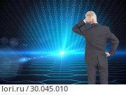 Купить «Composite image of rear view of doubtful mature businessman », фото № 30045010, снято 11 ноября 2013 г. (c) Wavebreak Media / Фотобанк Лори